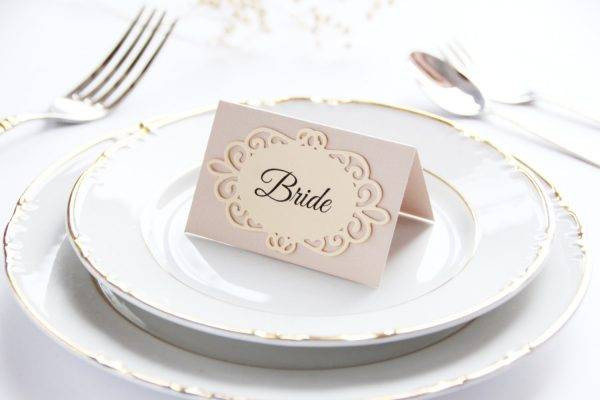 die cut wedding table card example2