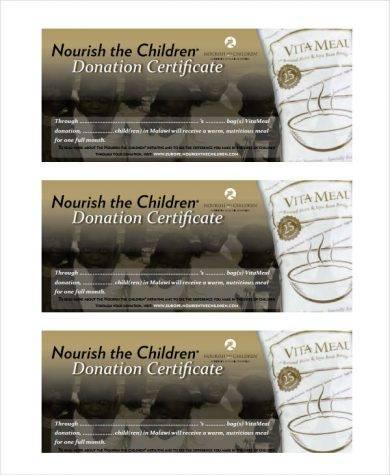 donation certificate for children1