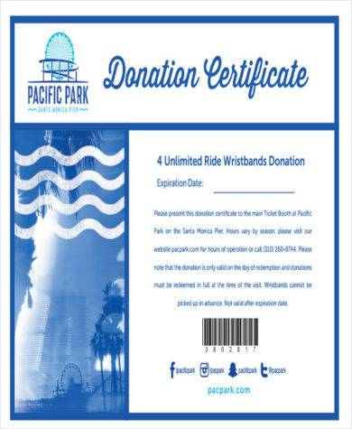 donation certificate simple1