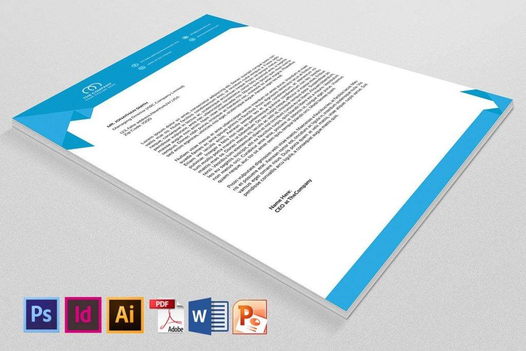 downloadable company letterhead example
