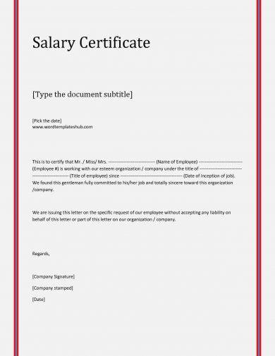 editable salary verification letter example1