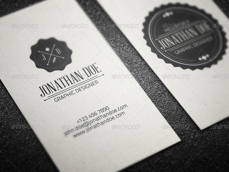 editable vintage business card example
