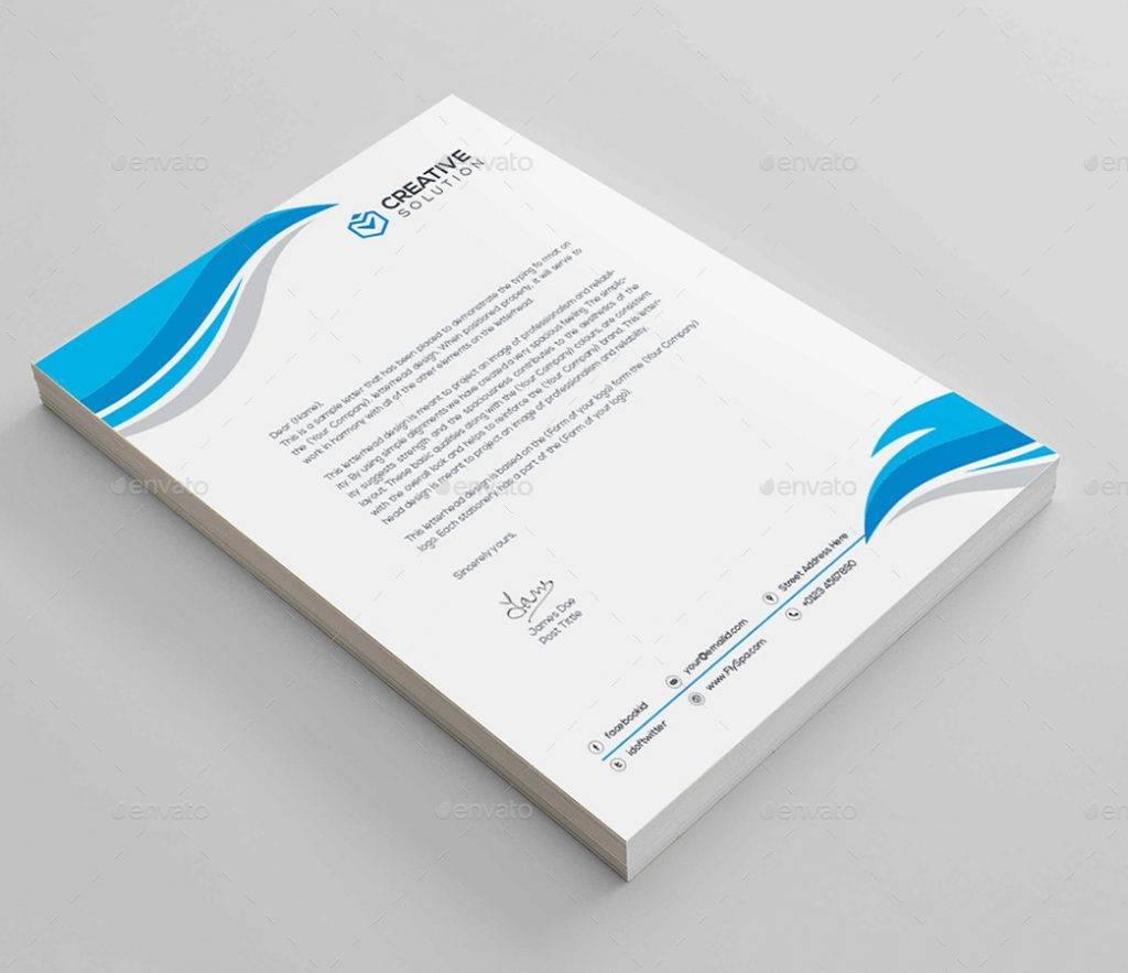 editable and print ready corporate letterhead