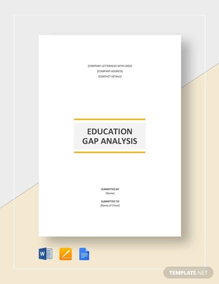 education gap analysis