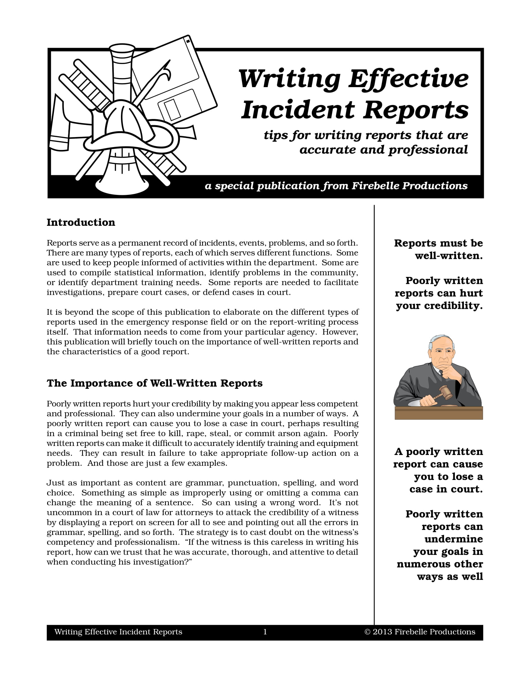 effective incident report writing guidelines example 01