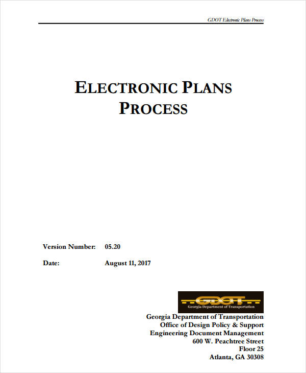 electronic plans process document
