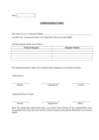 elegant authorization letter example1