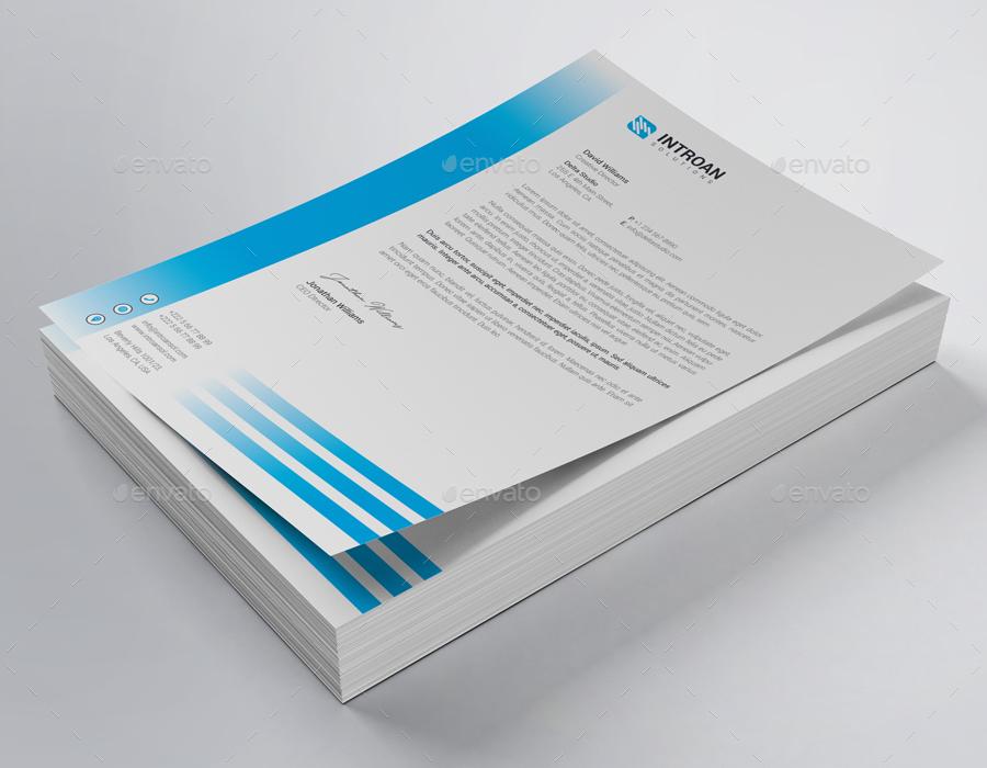 elegant company letterhead example