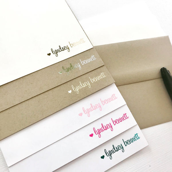elegant personalized note cards example1