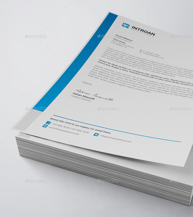 Elegant Professional Corporate Letterhead Template 000890: 20+ Company Letterhead Designs And Examples