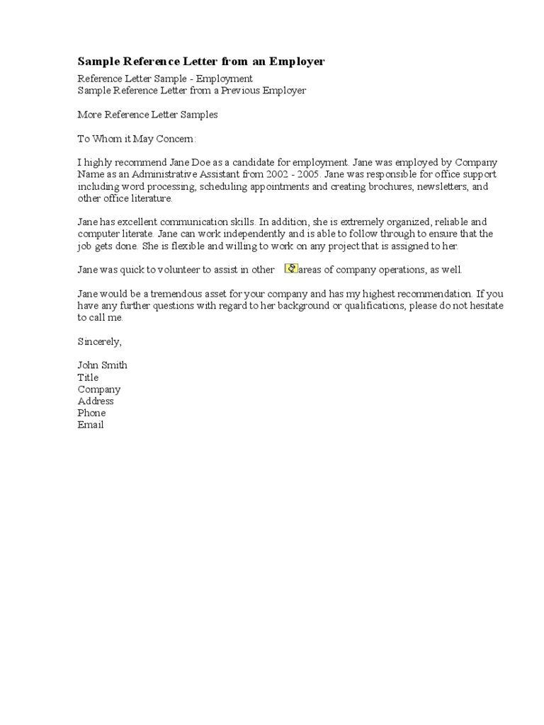 Letter Of Support For Employment from images.examples.com