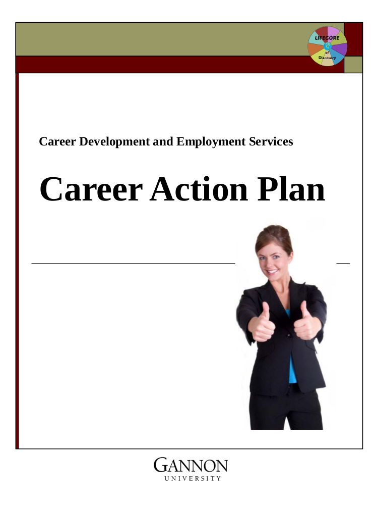 employment services career action plan example