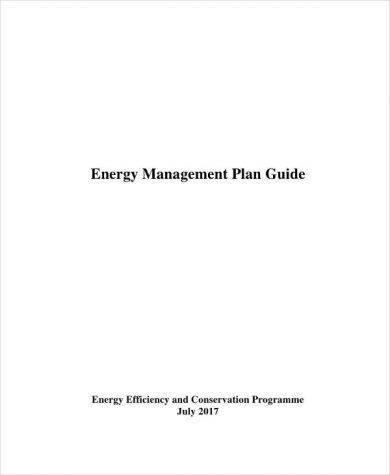 energy management plan example