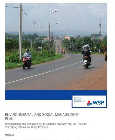 environmental and social management plan example1
