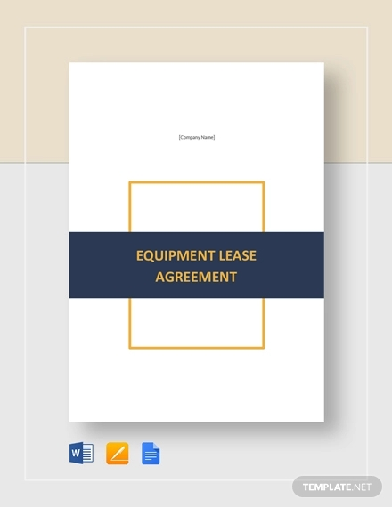 equipment lease agreement