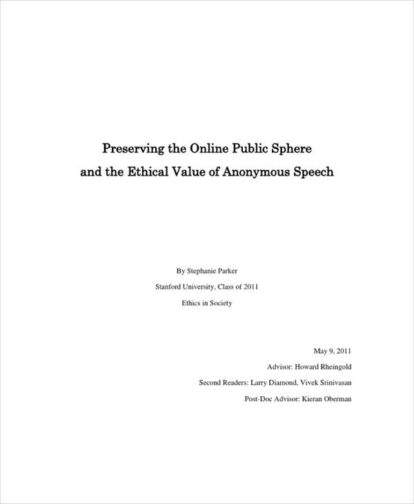 ethical value of anonymous speech