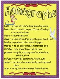 examples of homographs