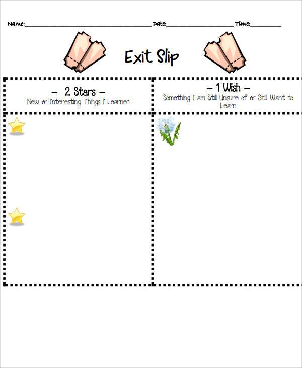 exit slip format1