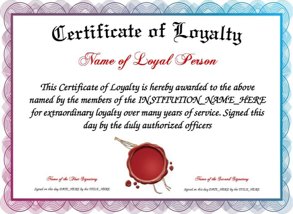 9 loyalty award certificate examples pdf