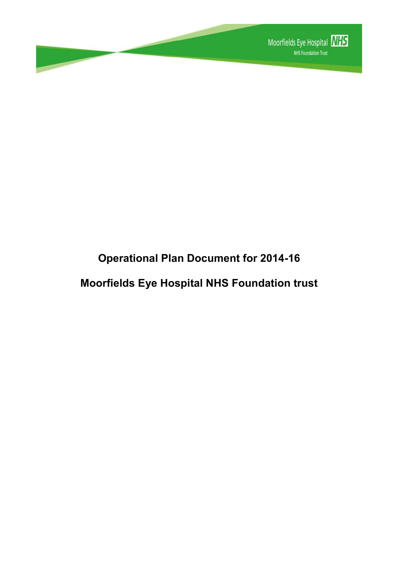 eye hospital operational plan example 01