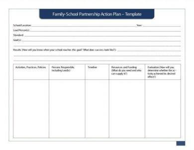 family and school partnership action plan