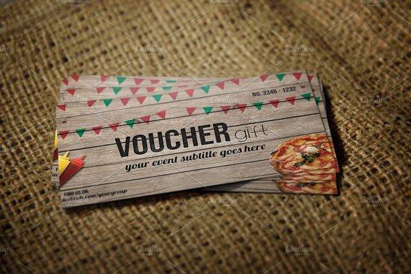fast food payment gift voucher example