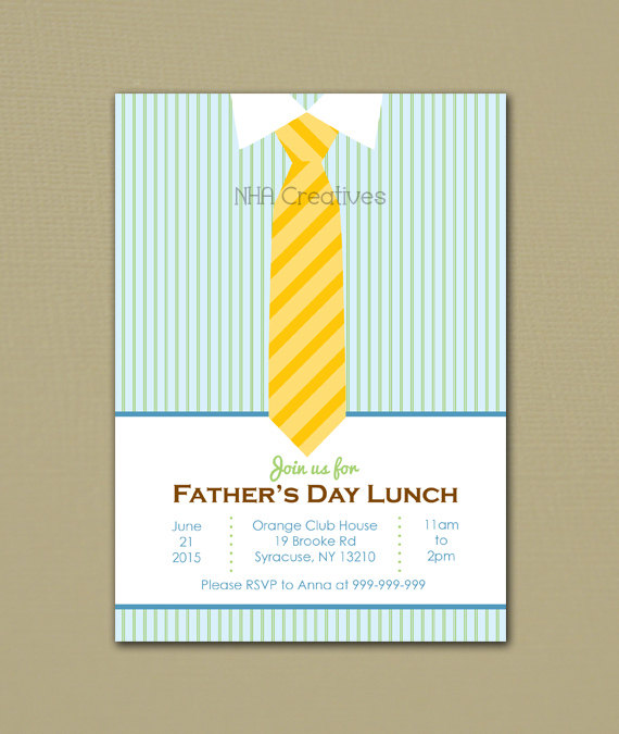 fathers day lunch invitation