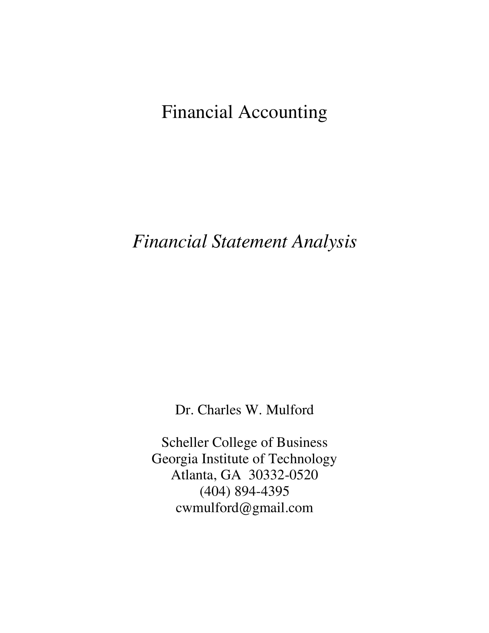 financial statement analysis example 01