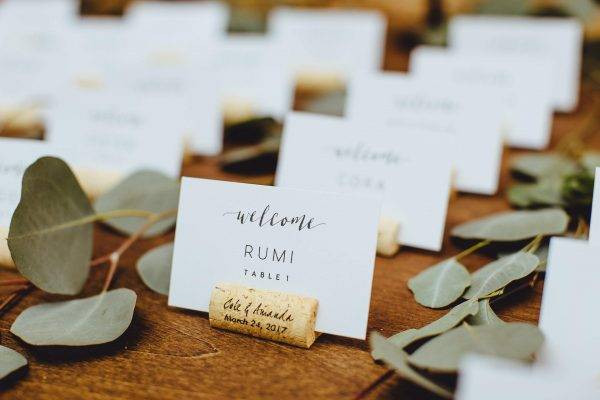first names wedding table card example1