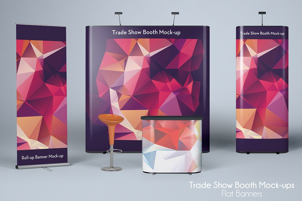flat trade show business banner example