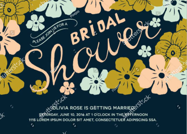 floral bridal shower banner example1