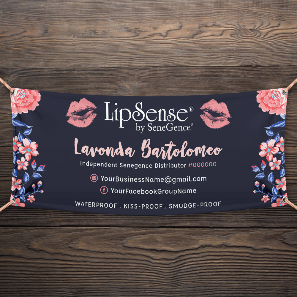 floral table business banner example
