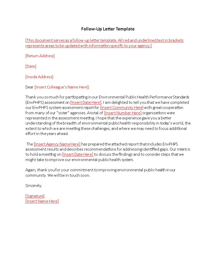 follow up letter template example