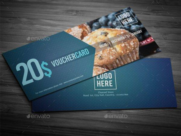 food payment gift voucher set example