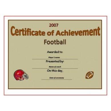 football certificate of achievement1