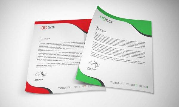 formal business letterhead example1