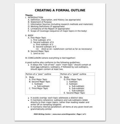 formal business report outline example1