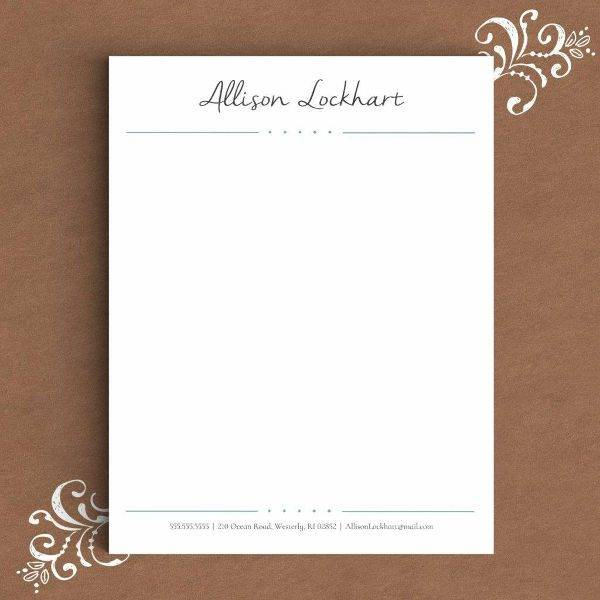 formal letterhead template for word example2