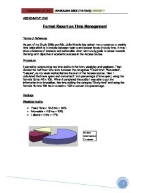 formal report on time management