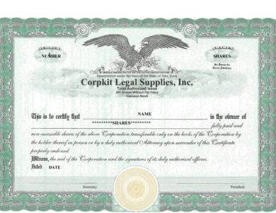 formal share certificate example1