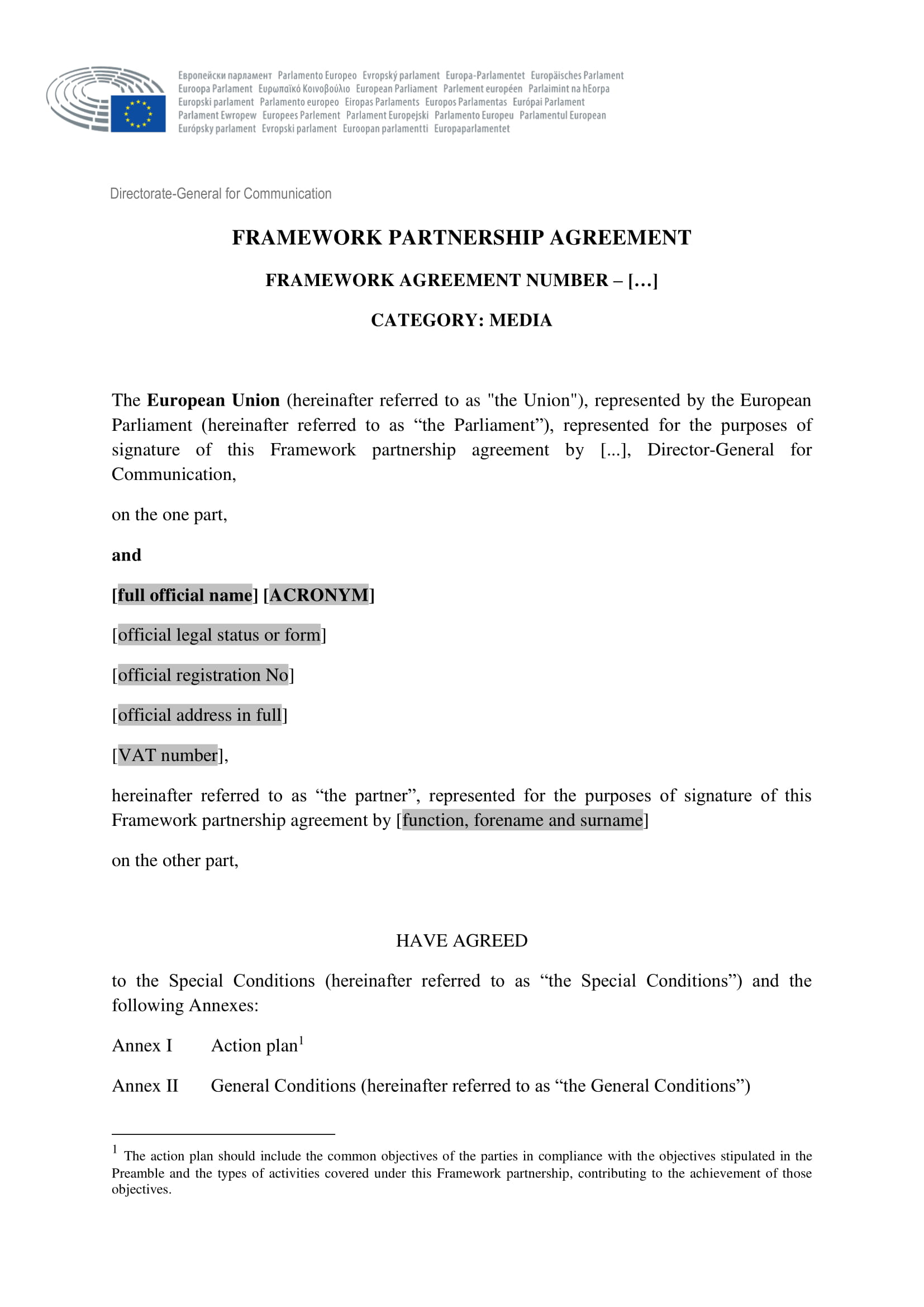 framework partnership agreement example1
