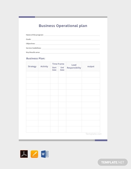 free business operational plan