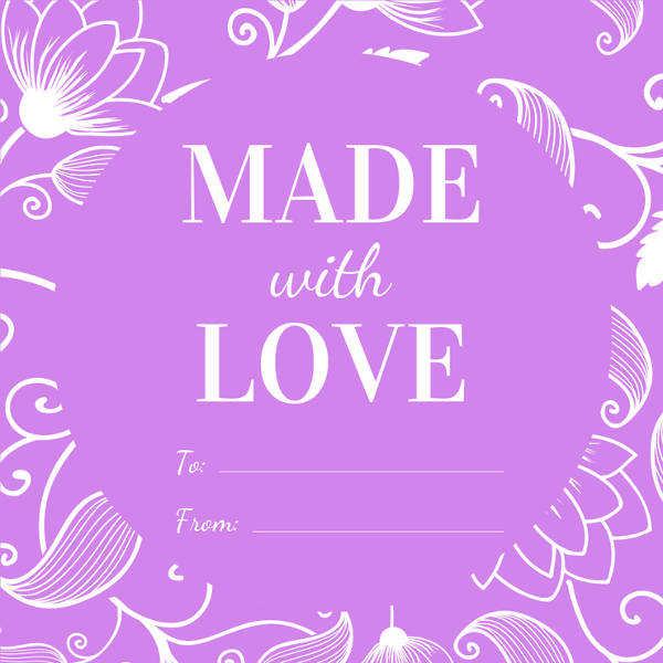 free floral gift label example