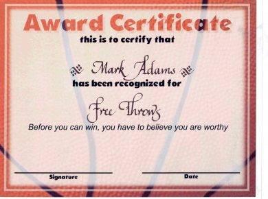 free throws award certificate1