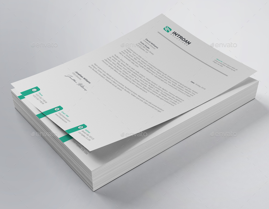 fully editable company letterhead example