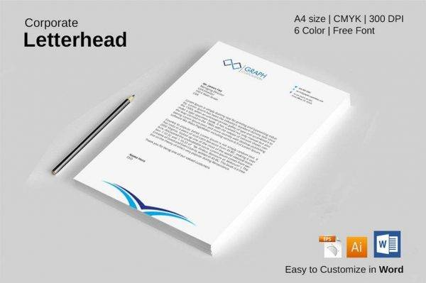 fully editable formal letterhead