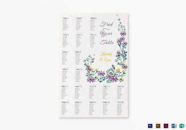 garden wedding seating chart example1