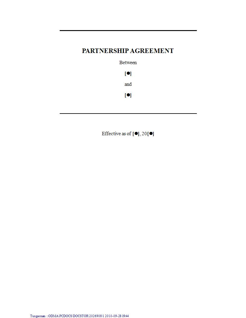 general partnership agreement example1