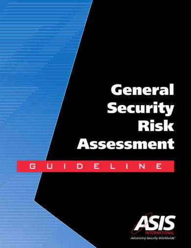 general security risk assessment guidelines and example
