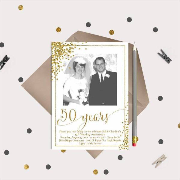 gold 50th anniversary announcement example11